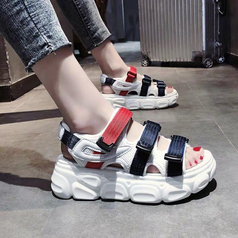 Hot New Womens Sandals Casual Shoes Woman Sport Sandals Wedge Platform Shoes High Heels Sandal Women Canvas Beach Shoes Femme