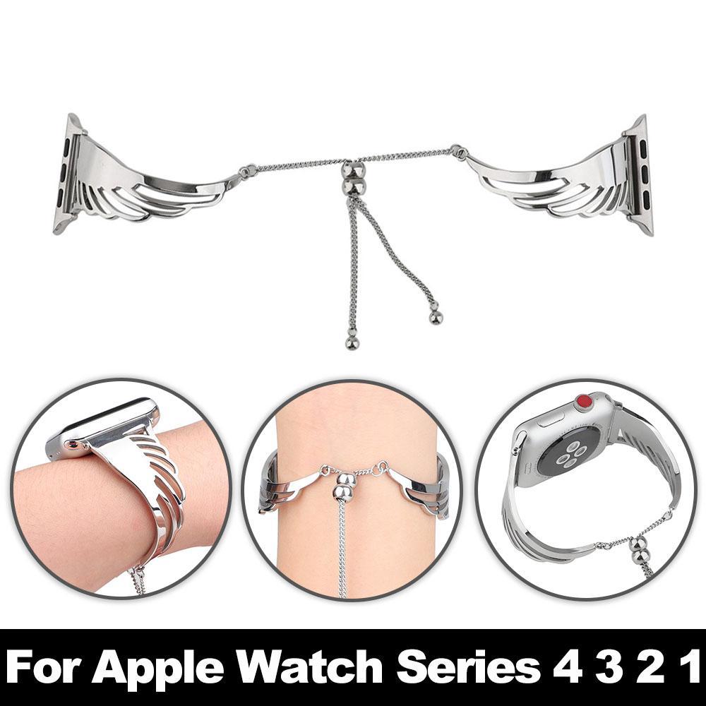 여성 시계 용 시계 팔찌 44 / 40 / 42 / 38mm Apple Watch4 용 스테인레스 스틸 스트랩 iWatch Series 4와 함께 사용 3 3 1 Accesso