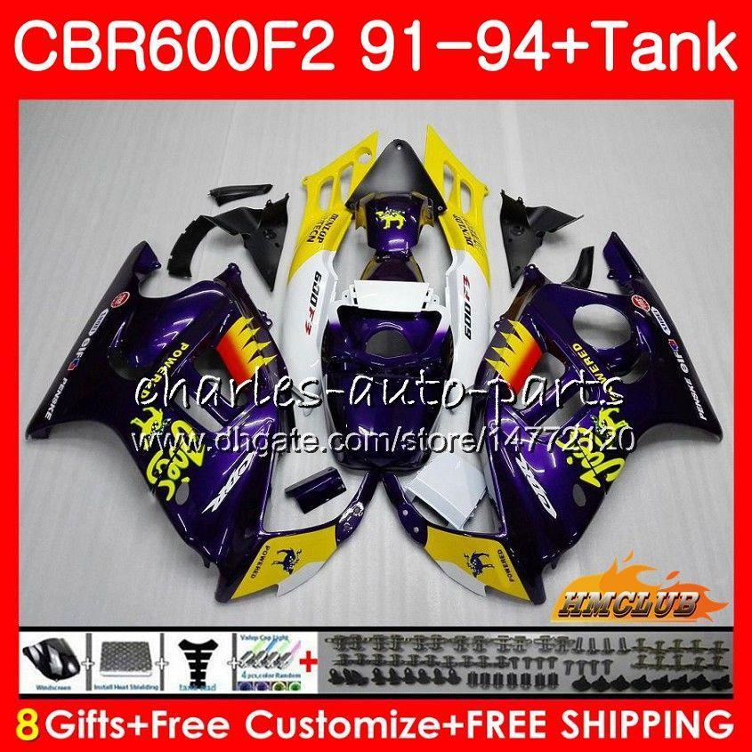 Body + tank voor HONDA CBR 600F2 Kameel Paars CBR 600 FS 1991 1992 1993 1994 40HC.121 CBR600FS 600CC CBR600 F2 CBR600F2 F2 91 92 93 94 Valerijen