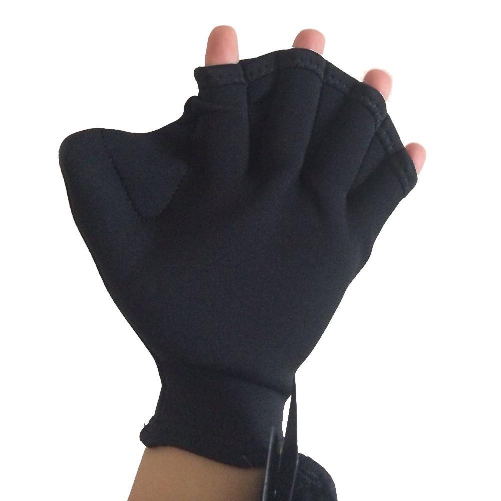 Neoprene Swimming Gloves Hand Finger Webbed Paddle Surfing Gloves Training Fins