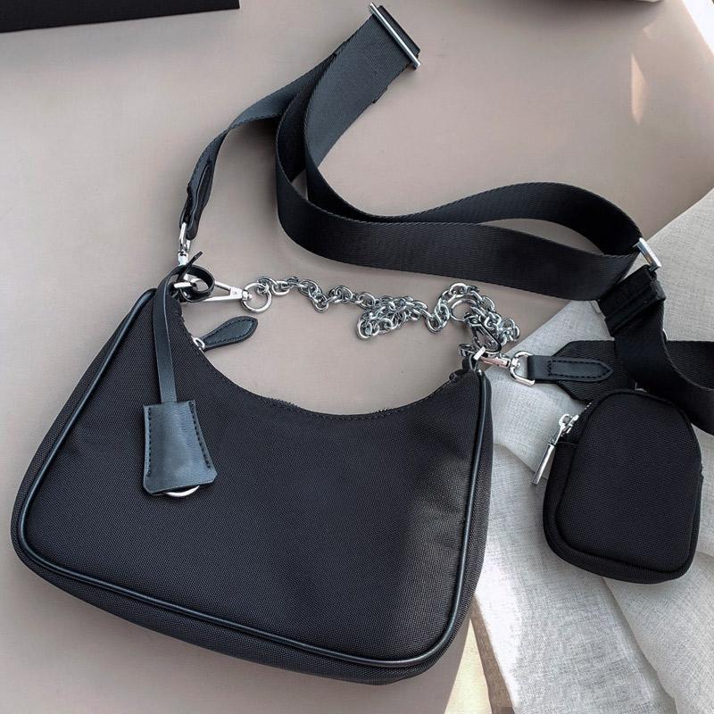 متعدد الألوان حقيبة يد جودة عالية أزياء الصليب الجسم جيد مباراة نسائية حقائب نايلون واحدة حقائب الكتف
