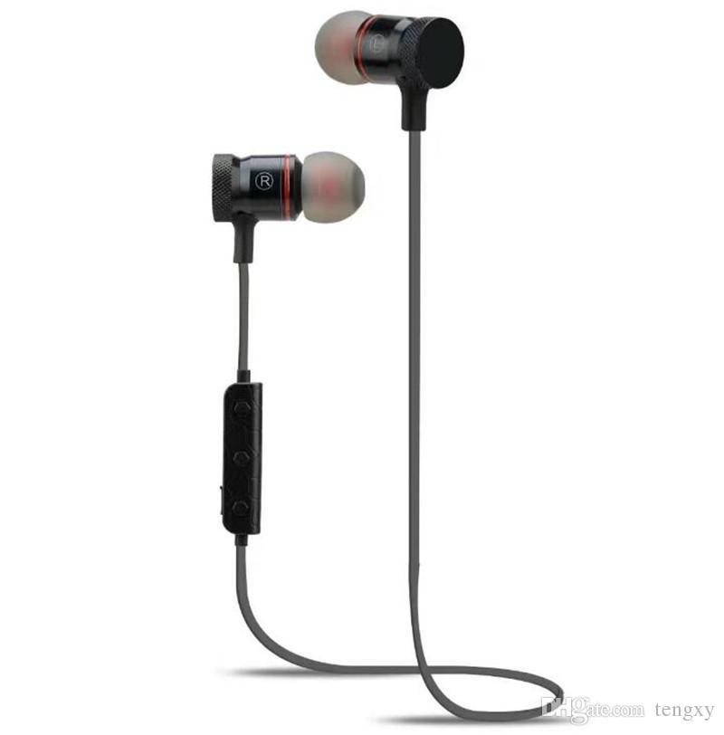 새로운 M90 무선 스테레오 스포츠 블루투스 헤드셋 자기 흡착 핸즈프리 헤드폰 이어폰 아이폰 5 6 7 삼성 S8 뜨거운 판매