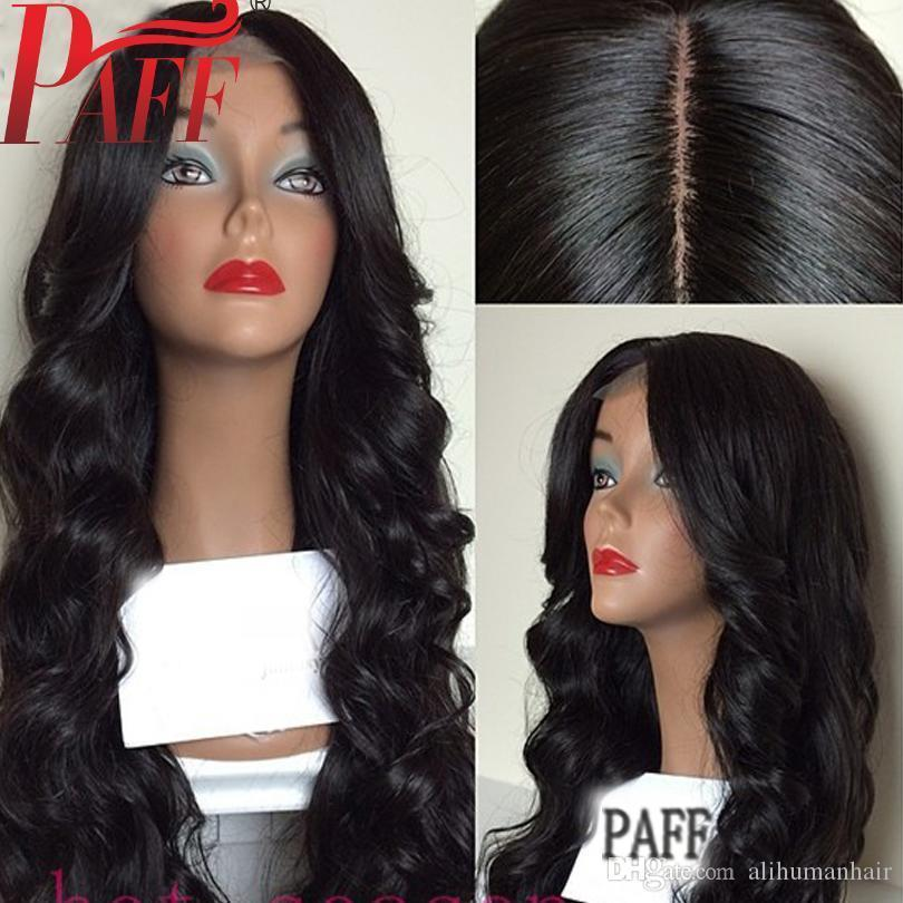 4*4 Silk Top Full Lace Human Hair Wigs Natural Wave Brazilian Remy Hair Silk Base Pre Plucked With Baby Hair
