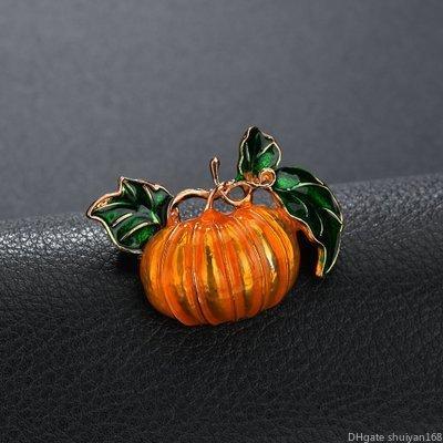 Broche de Halloween calabaza naranja esmaltados de dibujos animados broches de los pernos de joyería de las mujeres de los hombres de los niños Pin regalo Festival de decoración