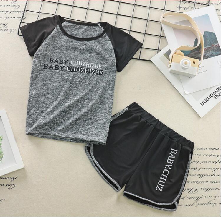de manga corta traje de fitness chándal de entrenamiento rápidas ropa seca de los hombres y de las mujeres de los nuevos niños de dos piezas de baloncesto y fútbol bottomin