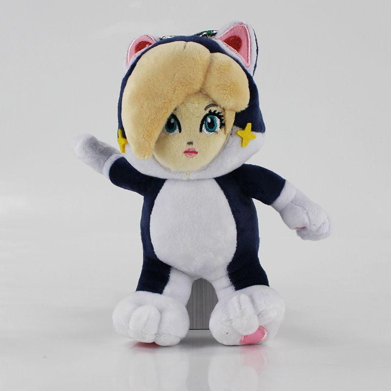 5 Styles Super Mario Bros Plush Toy Mario Luigi Toad Princess Peach Rosalina Cosplay Cat Animals Soft Stuffed Dolls
