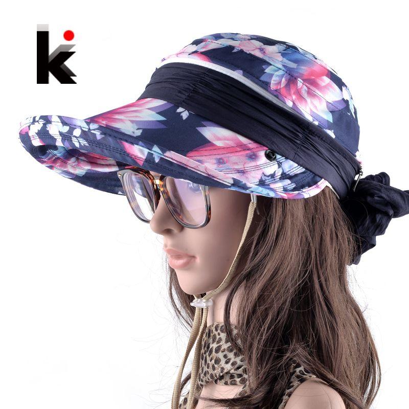 Chapeau de soleil Chapeu Chapeu Feminino Réglable Été Anti-UV Chapeau De Plage Cap Filles Avec Protection De La Cou