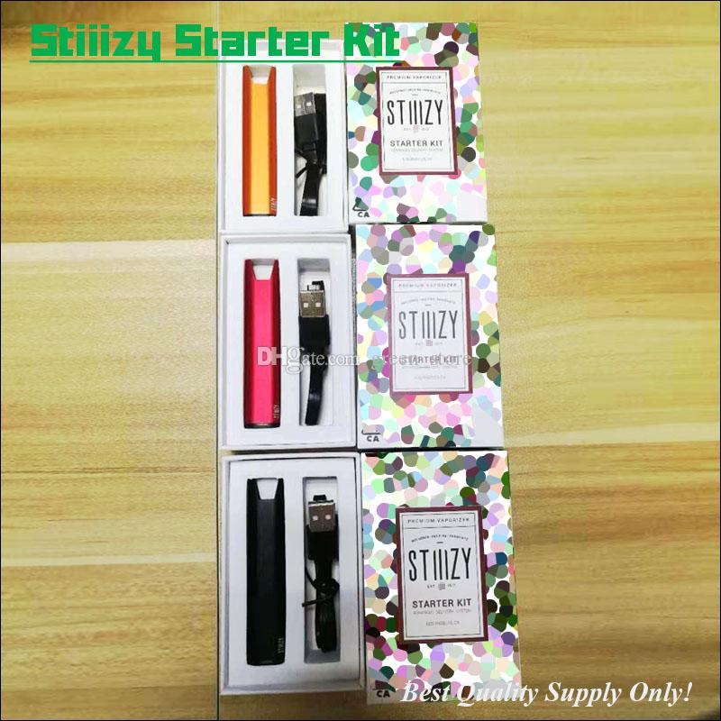 2019 Excellent Stiiizy Battery Starter Kit 210mAh Micro USB Rechargeable  Insert Pods Vaporizer With Retail Box Multi Colors Available From