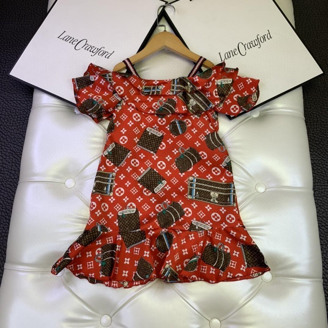 Frische süße Tide Version Fashion Classic Mädchen arbeiten klassischen Muster Straps Kleid 031412