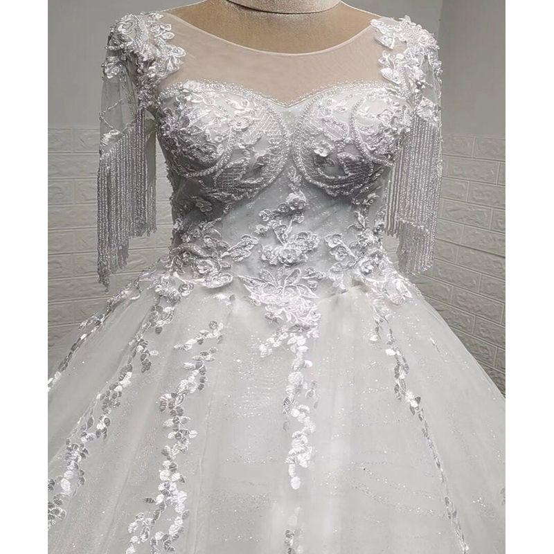 kol zarif sırf çiçek dantel gelinlik boncuk 2020 GERÇEK FOTOĞRAFLAR VE VİDEO gelinlik evlenmek elbise balo elbisesi yaka dantel tül