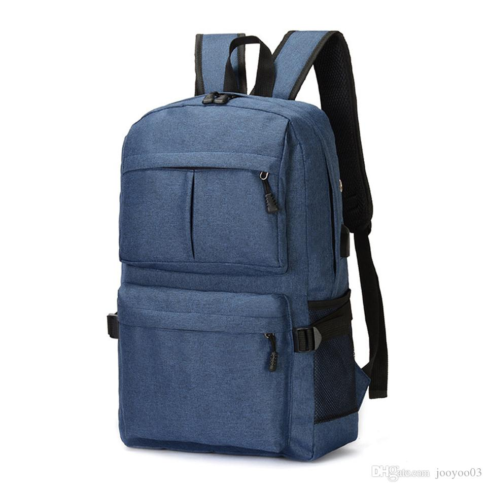 USB Charging Port Business Backpack Simple Fashion Waterproof Computer Bag Wear Resistant High Capacity Outdoor Traveling Pack School Bags