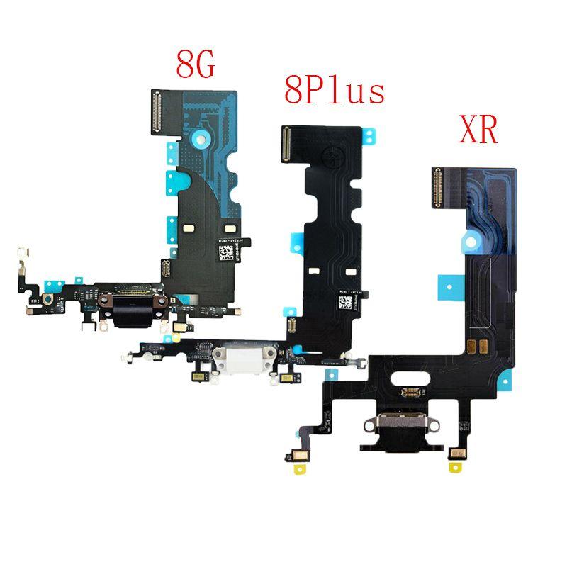 10pcs carregamento Flex para o iPhone de 8 Plus XR USB Charger Porto Dock Connector Com Mic Flex Cable