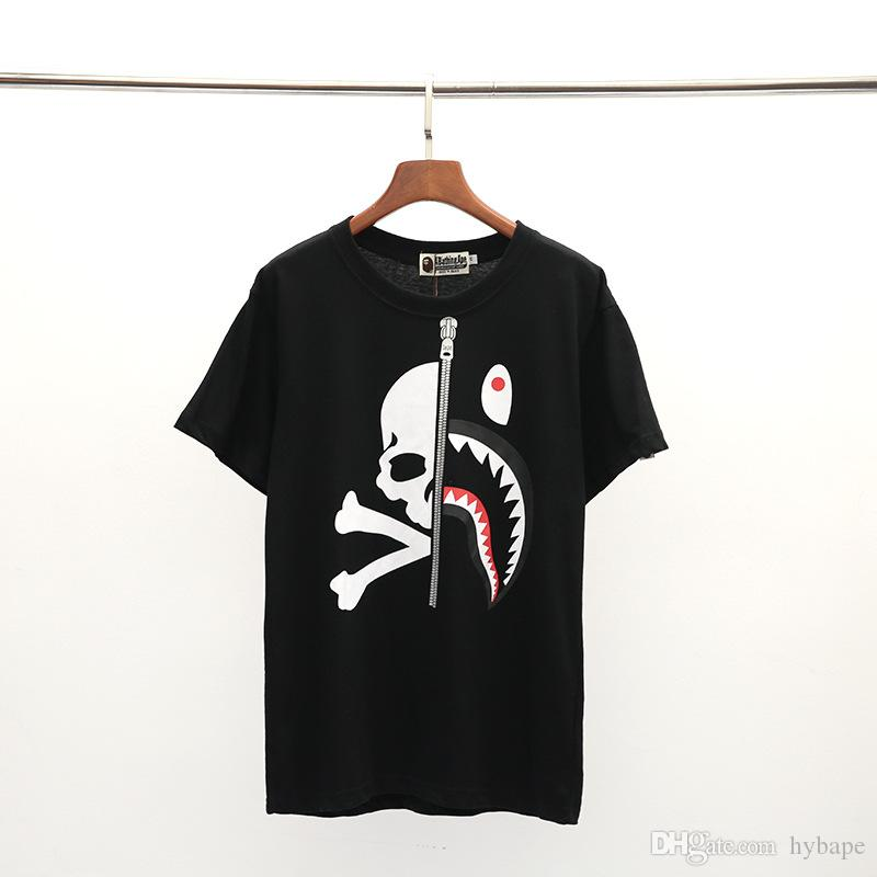 Spring Summer New Lover Cartoon Printing Black White T-shirt Teenager Casual Round Neck Short Sleeve T-Shirts Tops