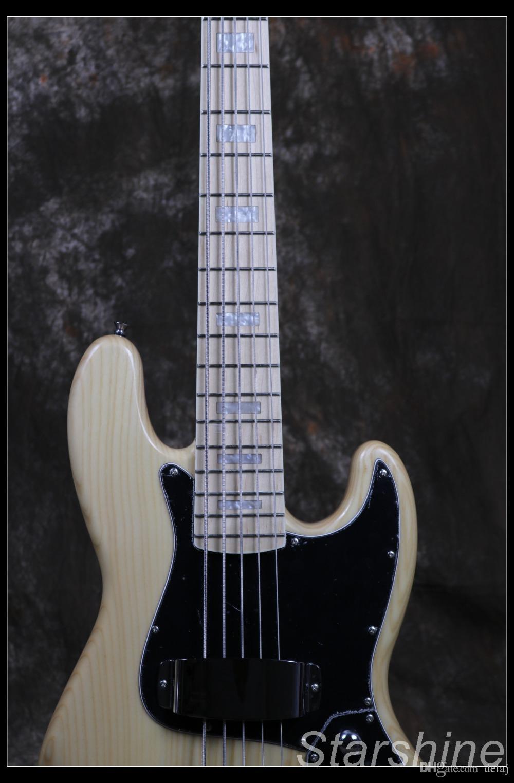 Frete grátis Jazz Bass 5 cores Baixo de corda da guitarra elétrica Z-ZV4 primárias de corpo ASH luz