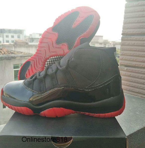 Оптовый Новые 11 XI НАЗАД черный RED мужчины Баскетбол обувь спорт на открытом воздухе 11S тренеров кроссовок с размером коробки 7-13