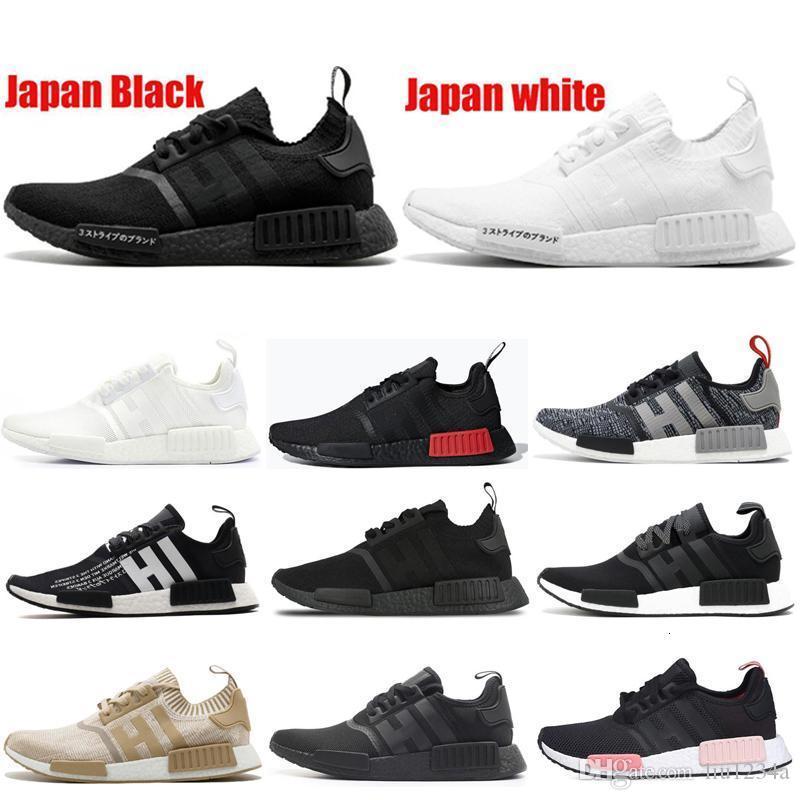 2020 Новый дизайнер NMD R1 кроссовки Sneaker Мужчины Женщины Япония черный белый Tri-Color Thunder Тройной белый Мужские Спортивные кроссовки 36-45 Casual