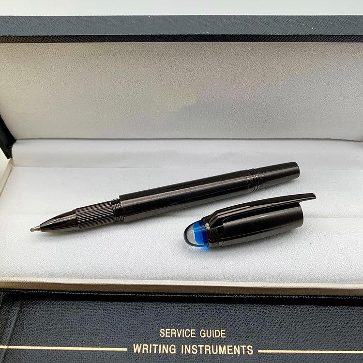 Lüks M Kalem Star-waiker Mavi Kristal üst dönerbaşlı kalem Tükenmez seri numarası ve Lüks Man Kışlık Yazma ofis malzemeleri kalemler