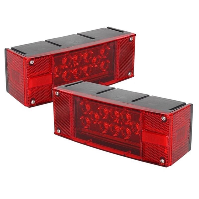 غاطسة مقطورة RV مستطيل الصمام الخفيفة كيت الأحمر وقف تشغيل الفرامل الذيل أكثر من 80 بوصة