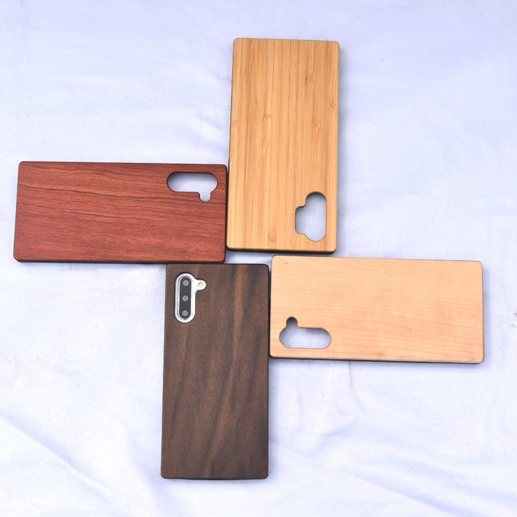 لسامسونج S20 زائد ريال الخشب مع TPU حافة الهاتف القضية لسامسونج ملاحظة 10 برو يمكن DTY الخيزران خشبية الهاتف الخليوي الغلاف