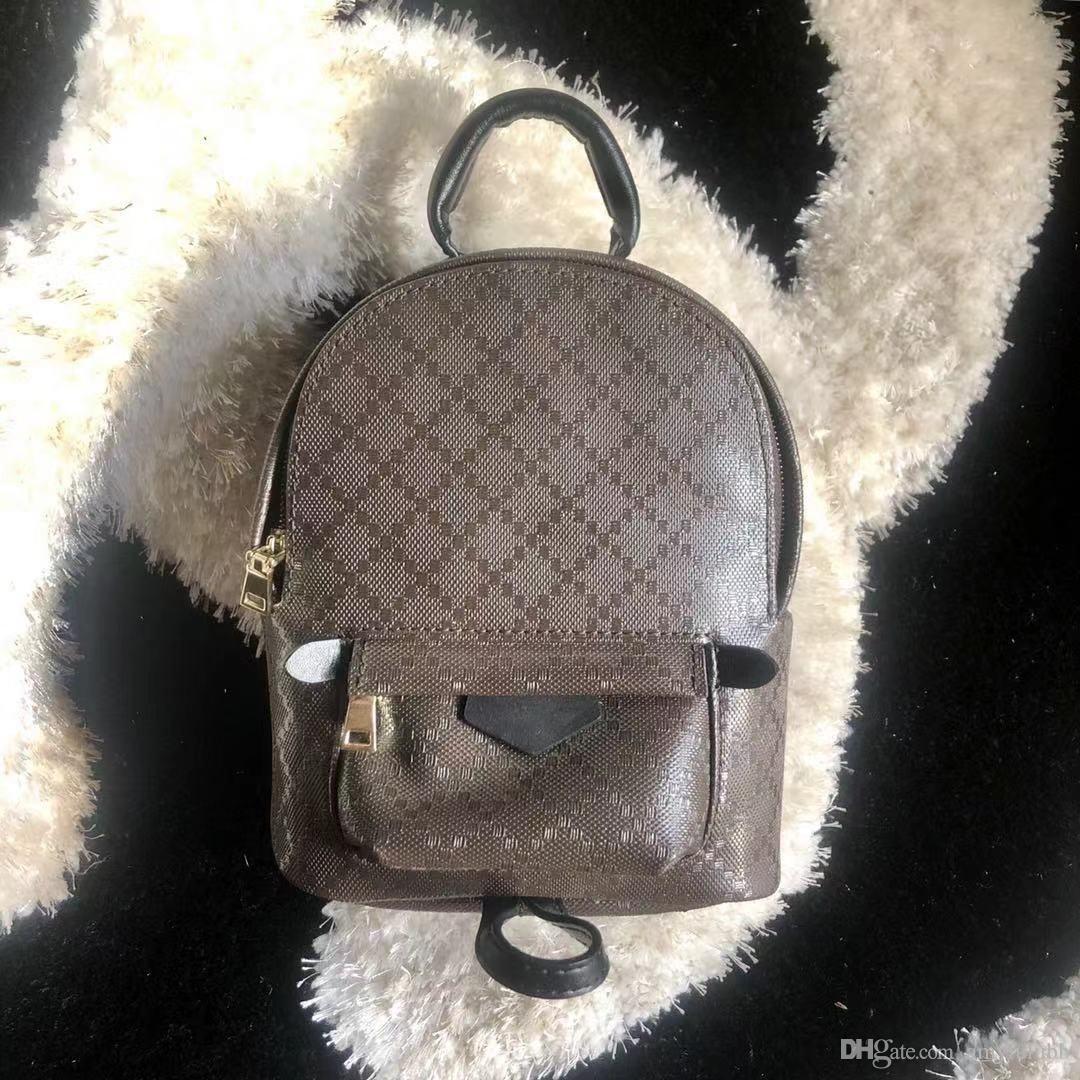 mochila Designer para as mulheres de moda em couro mochila no ombro saco bolsa de Palm Spring presbyopic mini-mochila telefone saco do mensageiro bolsa