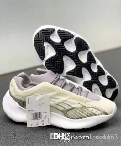 Gly 700 V3 Luminous Grey Kanye West tênis de basquete 3M OG Brilho In Dark Designer Sneakers Moda Athoetic Esportes