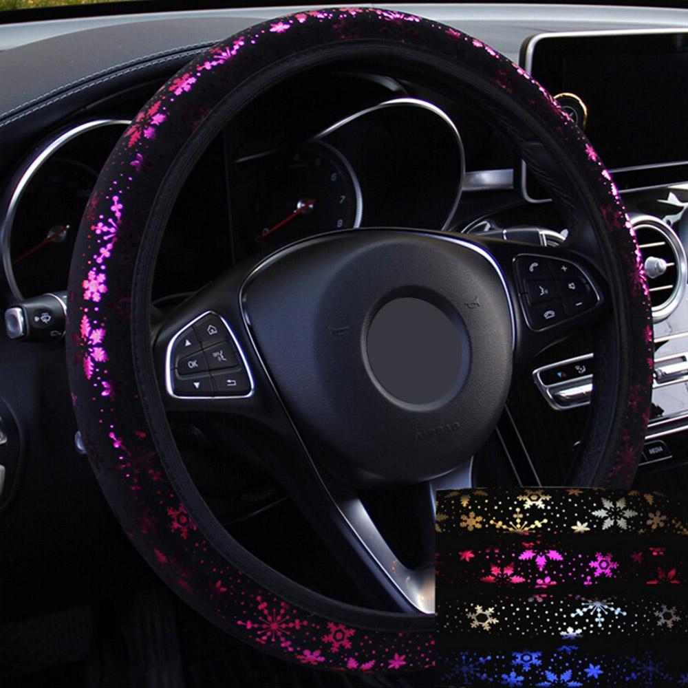 Direcção Carro tampa da roda Covers volante brilhante do floco de neve Car-styling Diâmetro 38cm Universal Auto Acessórios 4 cores