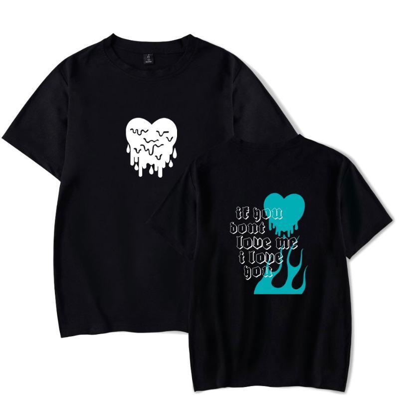 Пары тенниска AVANI 'если вы не любите меня' T-Shirt GreggChase Hudson Tee лето с коротким рукавом мужской Love Heart Версия для печати Футболка