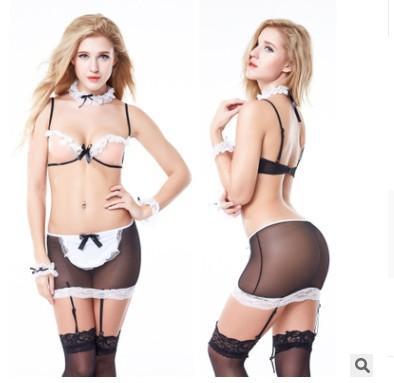 Sexy lingerie commercio estero Europa e in America sexy attrezzatura della domestica attrezzatura della domestica seduzione plus-size costume cosplay uniforme sexy