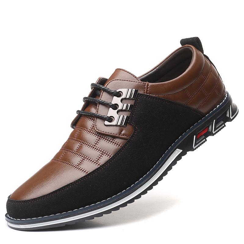 الخريف حقيقية الجلود أحذية الرجال عارضة تنفس الدانتيل متابعة أوكسفورد اللباس الأعمال الرسمي حفل زفاف كبير الحجم أحذية