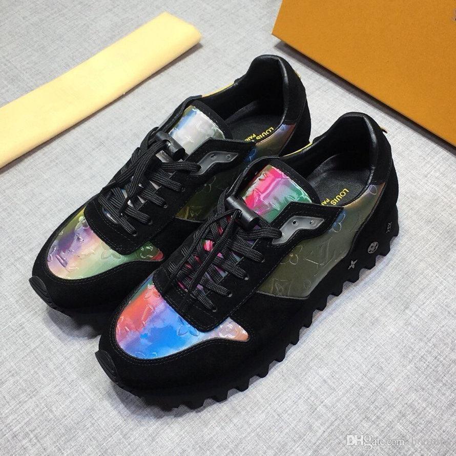 mens19Designer-Schuhe Monogramm Blumen Gummilaufsohle lässige Sneaker Männer Laufschuhe 19luisVuitton Läufer Turnschuhe Günstige