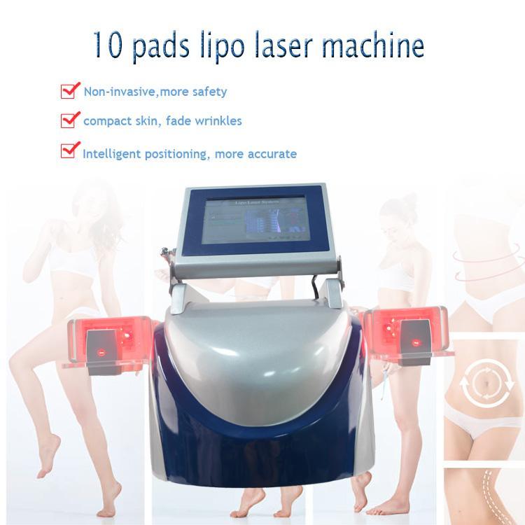 160mw 650nm Lipo Fat Dissolve Machine Cavitaréton Support facial Corps Minceur Gratuit Burning Cellulite Body Detox Spa Matériel de spa