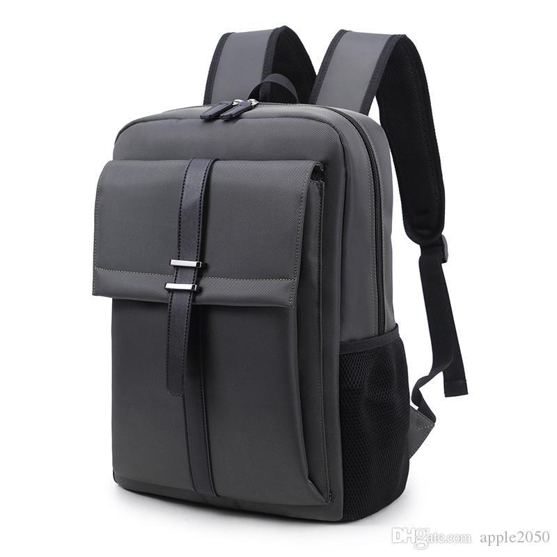 Laptop Backpack Men 16 polegadas Escritório Homens Trabalho Mochila Bolsa de Negócios Unisex preto Ultralight Mochila fina Back Pack
