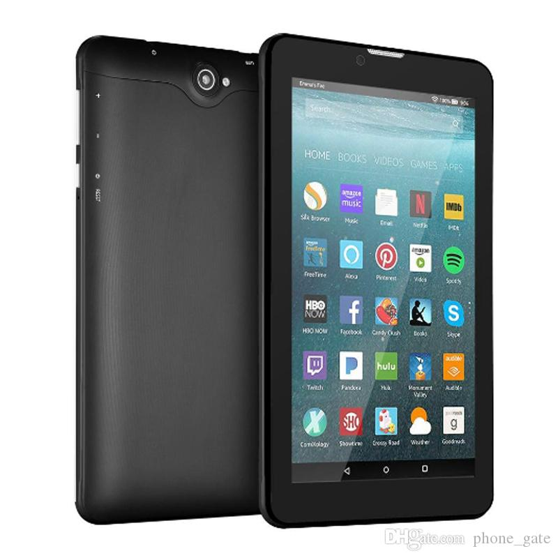 """7"""" 8GB Tablet PC Android Quad Core WIFI 3G Network Smart Tablet WCDMA Dual SIM Card Slot Camera Phablet Tablet With Retail box"""