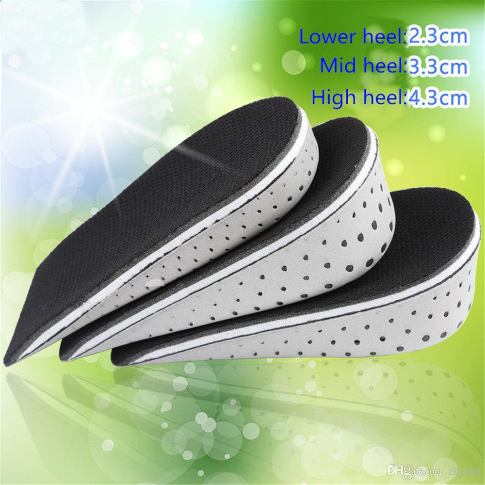 Shoe Insoles Breathable Half Insole Heighten Heel Insert Sports Shoes Pad Cushion Unisex 2-4cm Height Increase Insoles