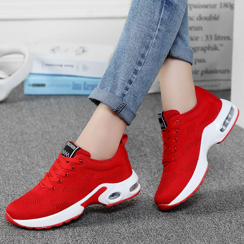 Casual Shoes For Women Spring Summer Autumn New Air Cushion Lovers Shoes Korean-Style Comfortable Meshes Womens Sneakers Plus Size 44