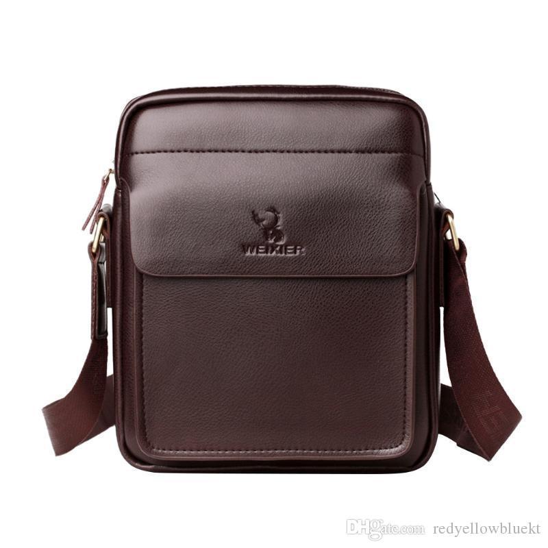 Мужчины мешок посыльного год сбора винограда плеча Crossbody Сплошные цвета Буквенные роскошные сумки ретро молнии кожаные портфели кожаные сумки