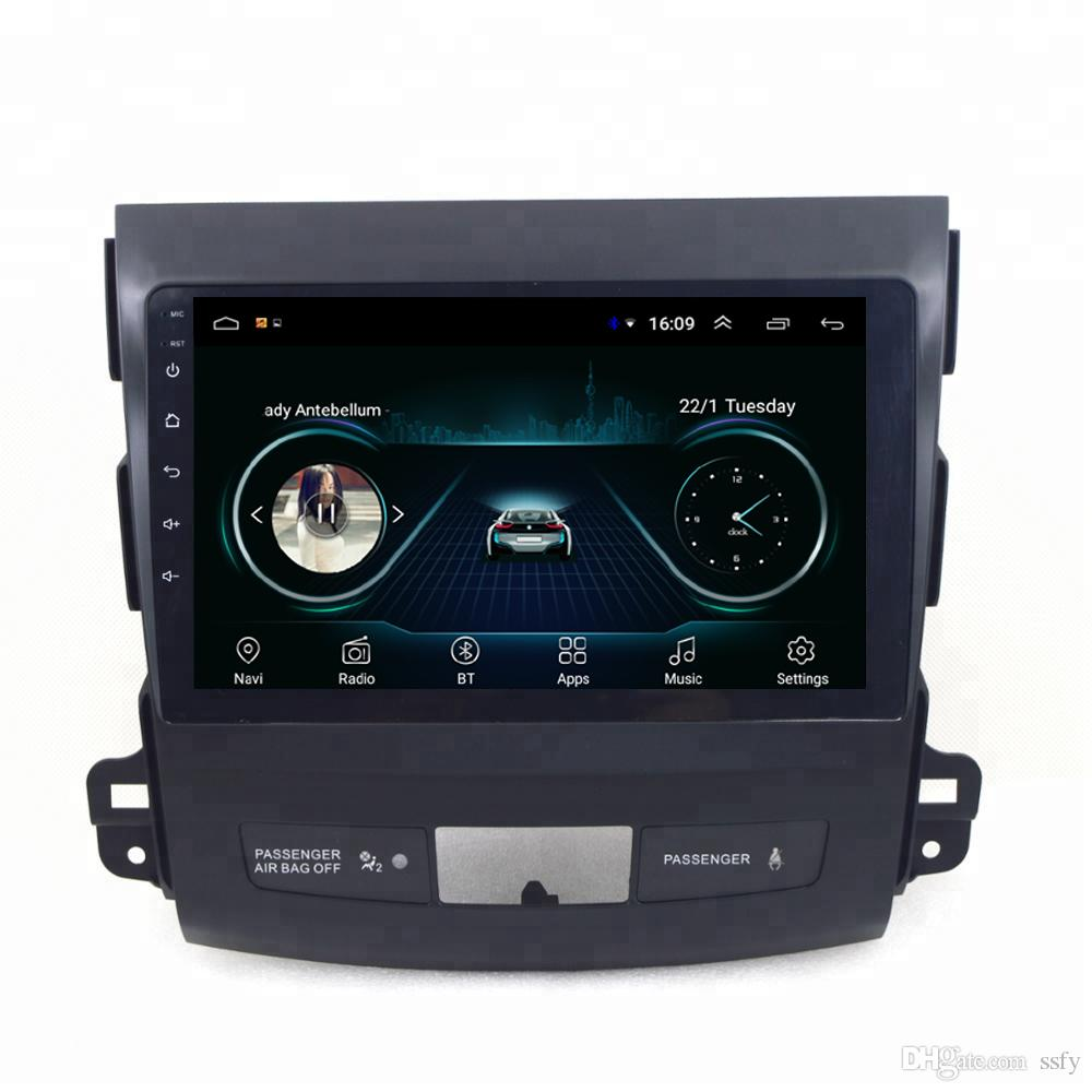 Android car GPS navigation map camera fast delivery HD1080 display Resolution 1024 * 600 USB for peugeot 4007 citroen c-crosser 9inch