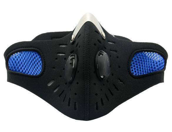 1 pz Bicicletta Moto Sci Ciclismo Anti-inquinamento Maschera Sport all'aria aperta Bocca-muffola antipolvere Filtro blu SBR