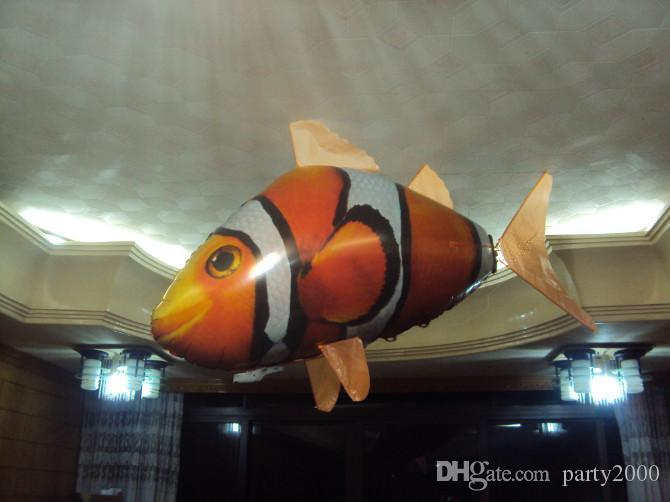 IR RC Air Swimmer Shark Clownfish Flying Air Swimmers Inflatable Assembly Swimming Clown Fish Remote Control Blimp Balloon 1000pcs