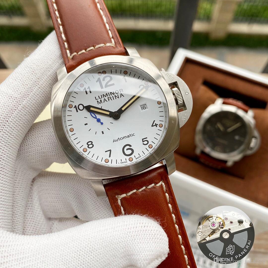 2019 2020 Alta GMT Qualidade Pam Watch Men Watches Canvas Glaze Watch Watch [Não Off Shed Wool] D263