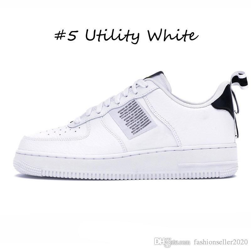 Acheter Nike Air Force 1 Af1 Avec Chaussettes Mode Dunk Utility 1 Hommes Dame Chaussures De Course Skateboard Noir Blanc Juste Orange Haut Bas Coupe