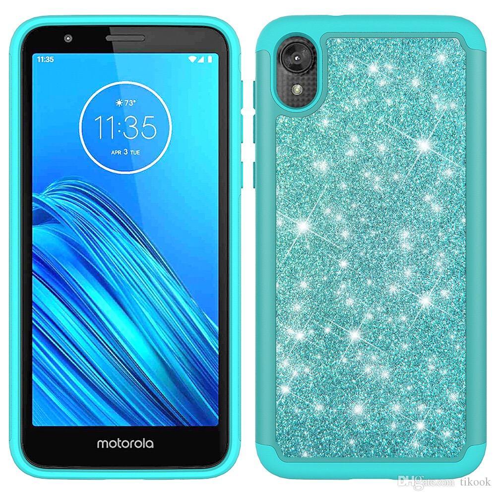 Galaxy S20 Davası için Glitter Bling Kılıf iPhone 11 / XR MAX 8P Ağır Hizmet Glitter Vaka Stylo6 K51 A01 A21 G Stylus MOTO E7 Aristo5 K31 için