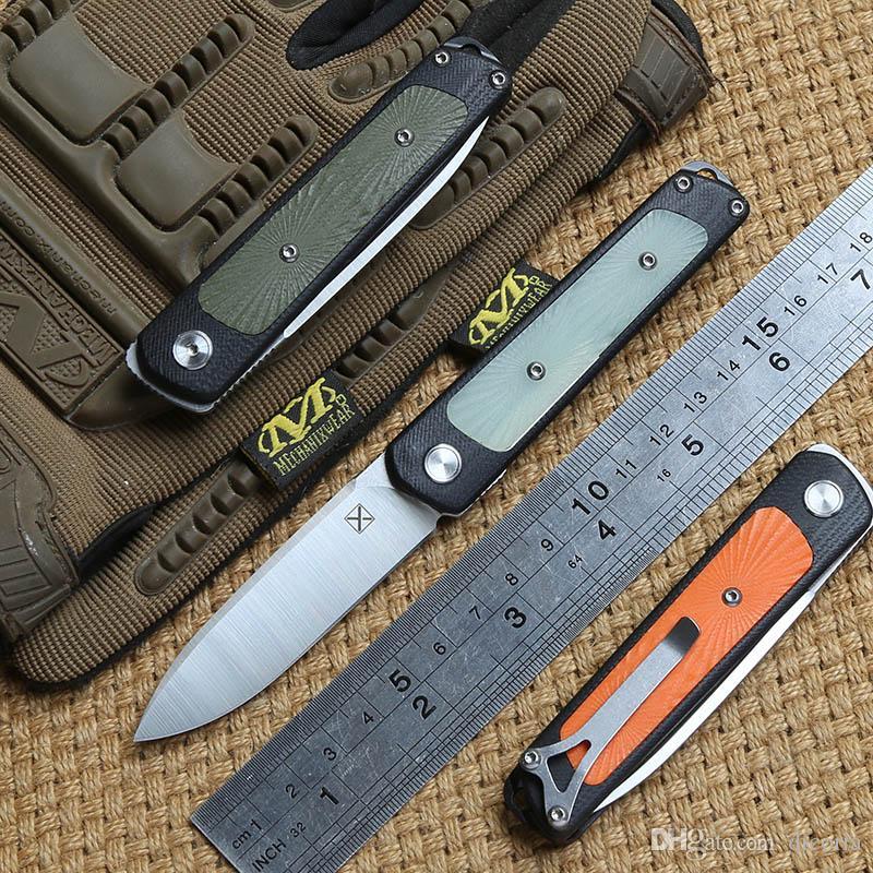 DICORIA mi ni YX-622 folding knife Ball bearing 14C28N blade G10 handle camping hunting Outdoor suvival pocket knives EDC tools