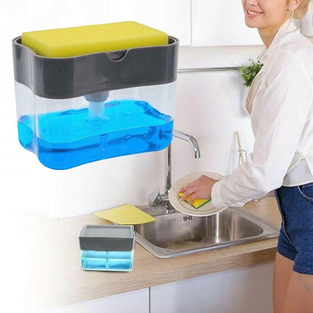2019 2in1 Soap Pump Dispenser & Sponge Holder For Dish Soap And Sponge For  Kitchen From Gl8888, $8.3 | DHgate.Com
