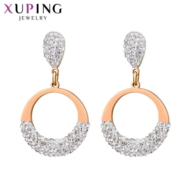 Xuping модные элегантные серьги круглая форма Сережка для модных женщин сладкий маленький свежий ювелирные изделия высокое качество подарок M103. 3-20763