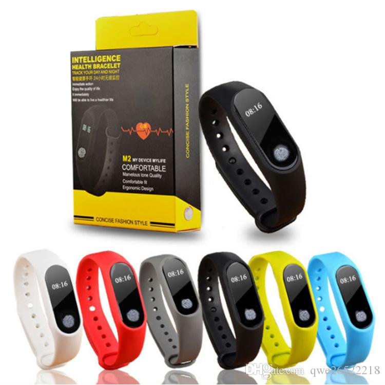 M2 Fitness tracker Watch Band Heart Rate Monitor Waterproof Activity Tracker Smart Bracelet Pedometer Call remind Health Wristband Top