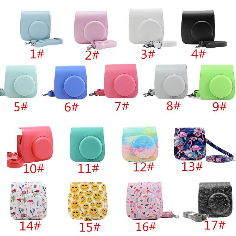 Para Polaroid Camera para Fuji Fujifilm Instax Mini 8/9 clássico PU Retro Leather Camera Bag Com Strap Case Cover Pouch Protector
