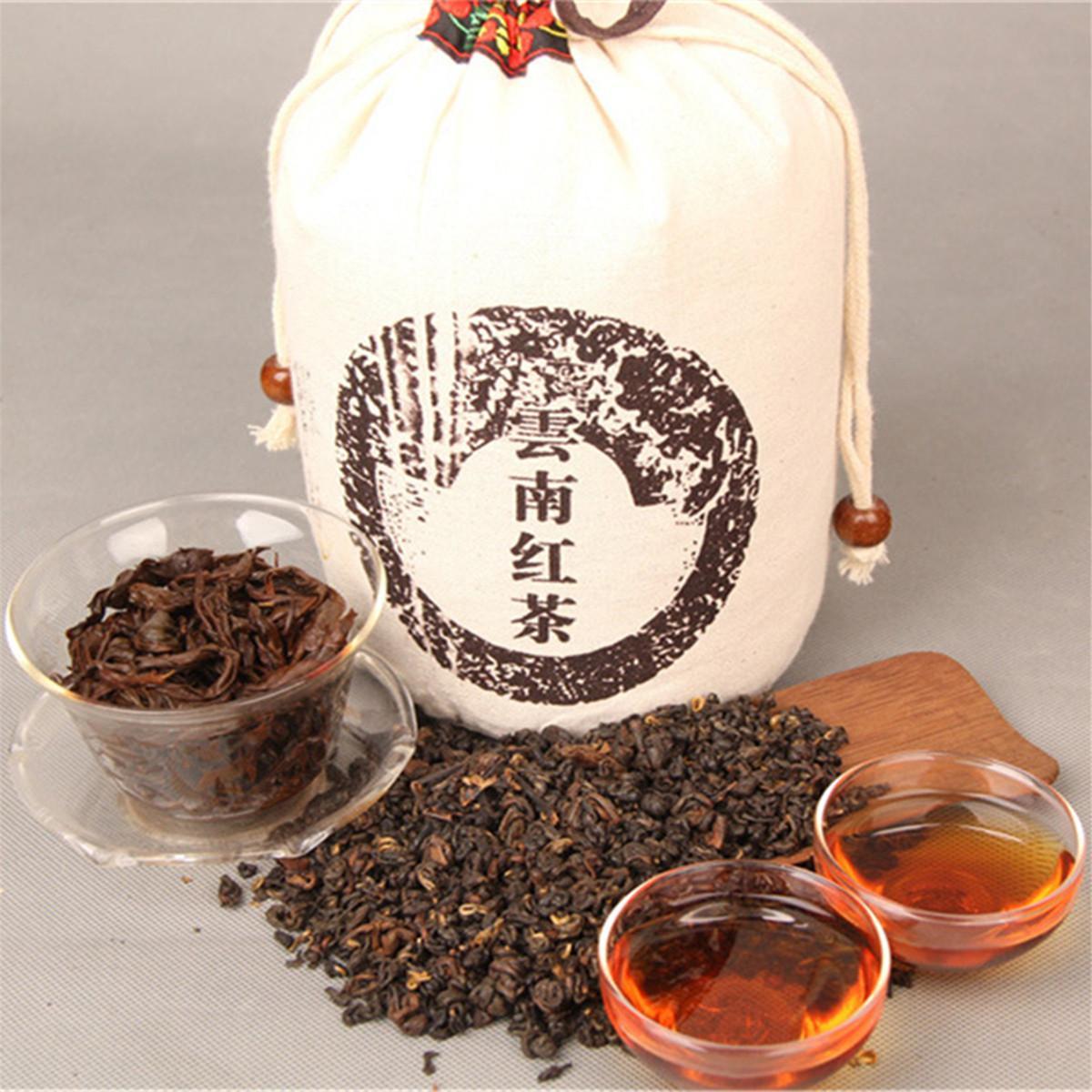 1000g Thé noir bio chinois Yunnan Dianhong Thé rouge Nouveau Thé sain vert cuit alimentaire tissu Bagged emballage préféré