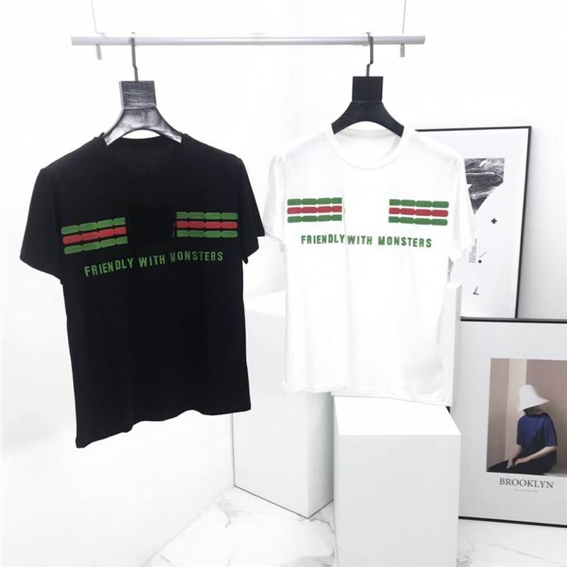 Mens Fashion Designer camisetas Casual Chegada Nova Marca Men menina Luxo camiseta Casual Carta Bordado Verão Tees Casal