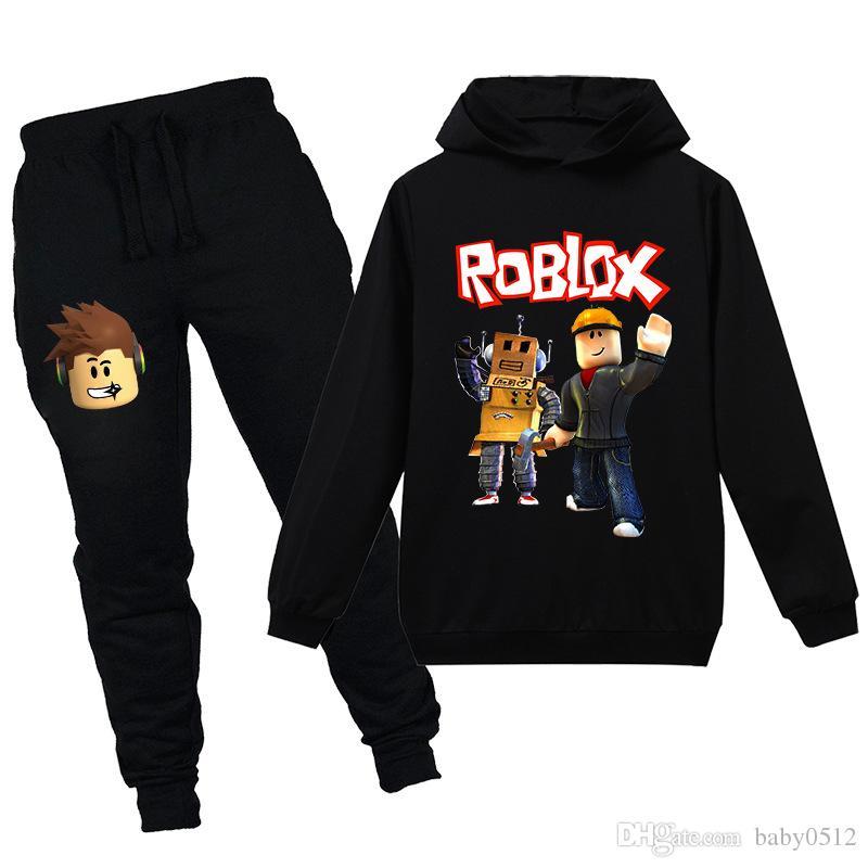 2020 Roblox Hoodies Sets Pants Girls Sweatshirts Boys Streetwear